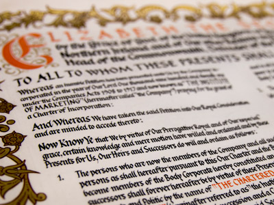 Royal Charter - bye-law and regulations